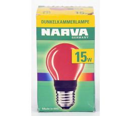 Narva donkere kamerlamp rood 15W