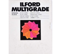 Ilford multigrade 8,9x8,9 set van 12 filters