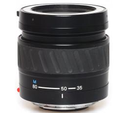 Minolta AF 4-5,6/35-80 met ingebouwde lensdop