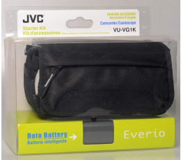 JVC VU-VG1K starter kit met tas en JVC accu BN-VG114E