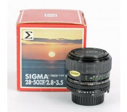 Sigma 2,8-3,5/28-50 voor Minolta MD