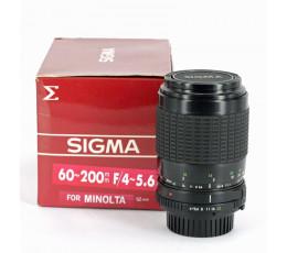 Sigma 4-5,6/60-200 voor Minolta MD