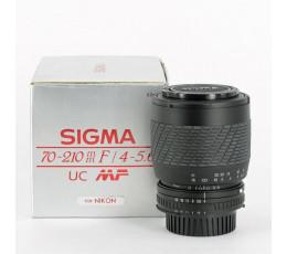 Sigma 4-5,6/70-210 UC MF voor Nikon