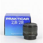 Pentacon Prakticar 2,8/28 mm MC met praktica B vatting
